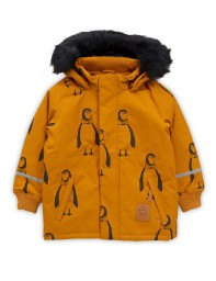 Mini Rodini AW19 K2 Penguin Parka Brown
