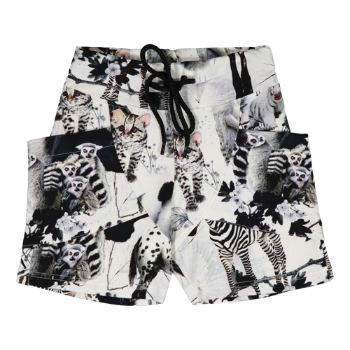 Gugguu SS20 Print College Shorts Baby Animals
