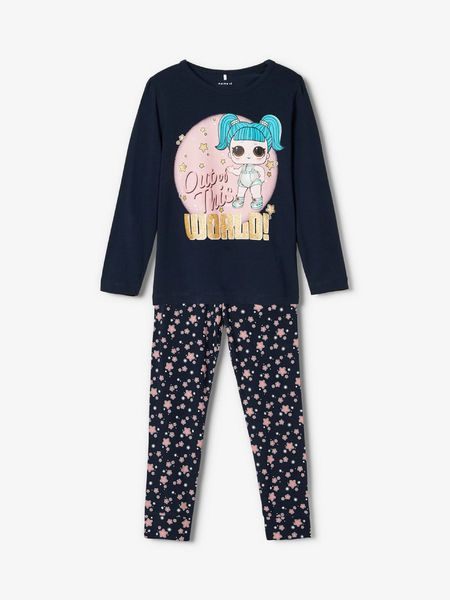 Name It L.O.L.-nukkeprinttinen Pyjama, Dark Sapphire
