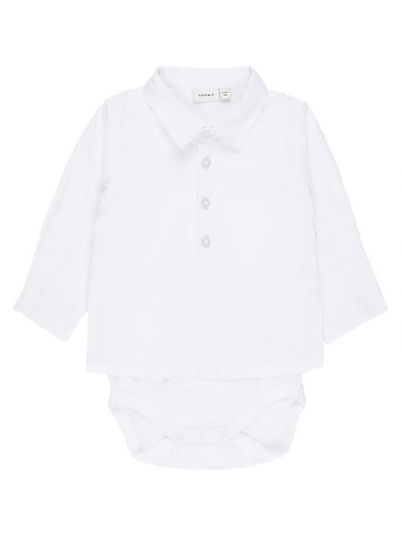 Name It Nbmsander LS Shirt Body Bright White