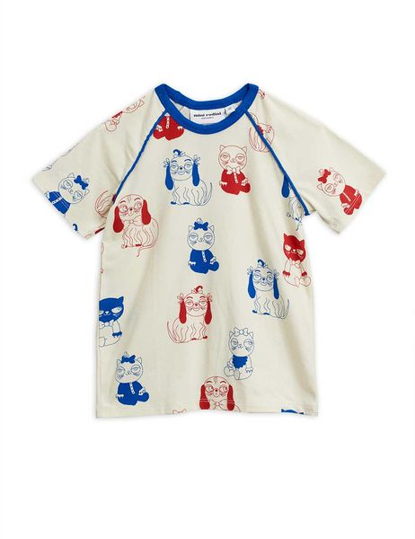 Mini Rodini SS20 Minibaby Aop SS Tee Offwhite