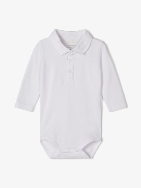 Name It Nbmhejim LS Polo Body Bright White