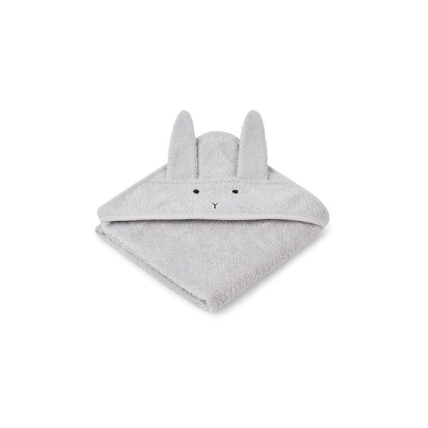 Liewood Albert Hooded Towel Rabbit Dumbo Grey