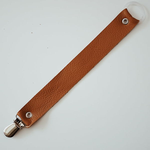 FMAM Pacifier Clip Elastic Brown