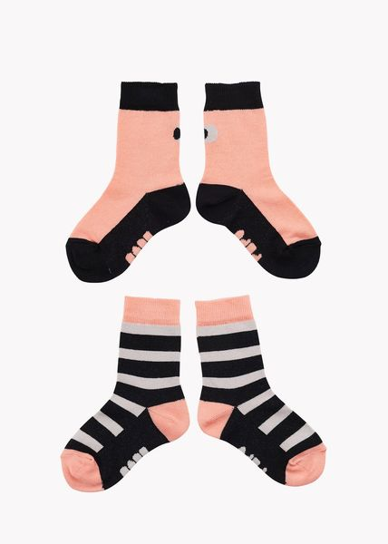 Papu SS20 Adults Socks 2-pack Multicolor Cantaloupe/Black/Grey