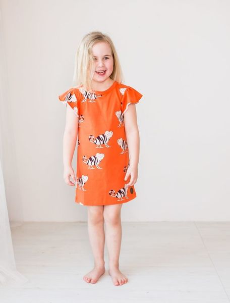 Blaa SS20 Baltimore Dress Chameleon Orange