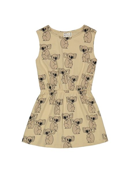 Mainio SS20 Grumpy Koala Dress Semolina