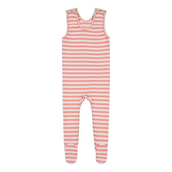 Metsola AW20 RIB Striped Strapsuit Strawberry Ice Potkuhousut