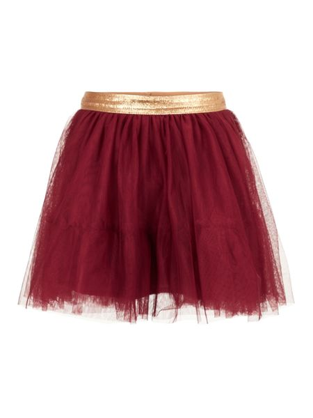 NMFTullu Tulle Skirt Noos Biking Red