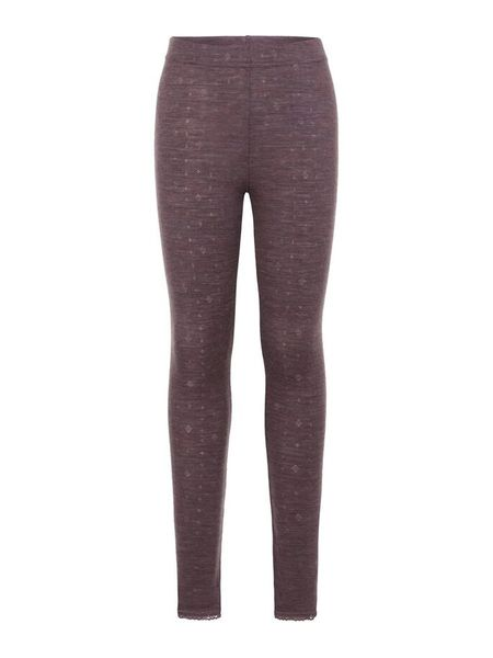 Name It Nkfwang Wool Needle Legging Noos Black Plum
