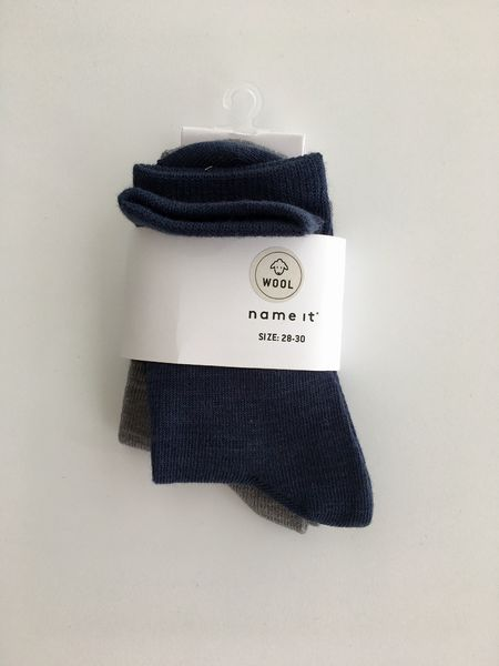 Name It Nitwak Wool 2 Pack Sock Dress Blues/Other Comb
