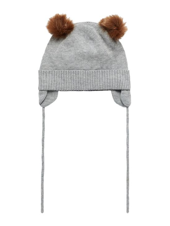 Name It Nbmmoe Knit Hat Grey Melange