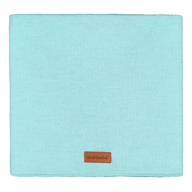 Metsola SS20 Cotton Knitted Rib Tube Scarf Fairy Aqua