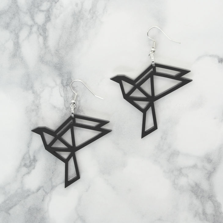 Yo Zen Dove Earrings Black