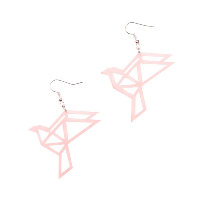 Yo Zen Dove Earrings Soft Pink Korvakorut