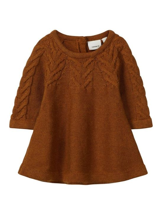 Name It Nbfofia Ls Knit Dress Cathay Spice