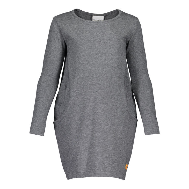 Metsola AW18 New Tricot Balloon Tunic Light Grey Melange