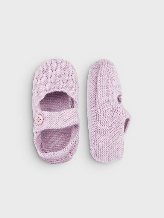 Name It Nbfermya Knit Slippers Neuletossut - Dawn Pink