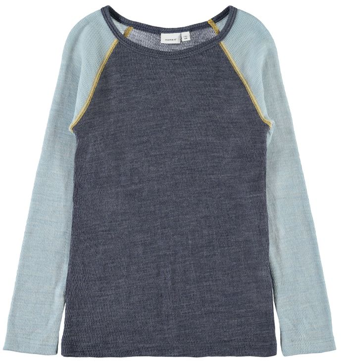 Name It Nkmwang Wool Needle LS Top Ombre Blue
