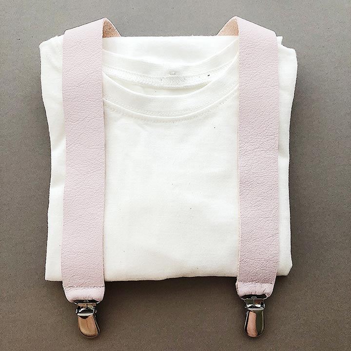 FMAM Suspenders Pale Rose