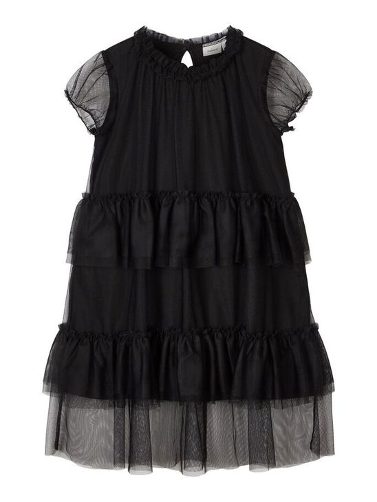 Name It Nmfsabella Tuille Midi Spencer Black