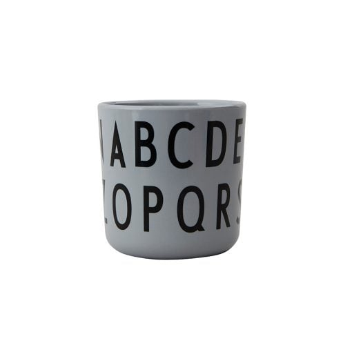 Design Letters Eat & Learn ABC Cup Melamine Grey