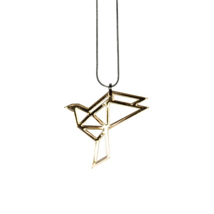 Yo zen Dove Mini Pendant Gold Mirror