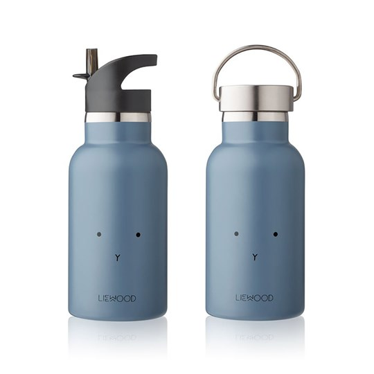 Liewood Anker Water Bottle Rabbit Blue Wave