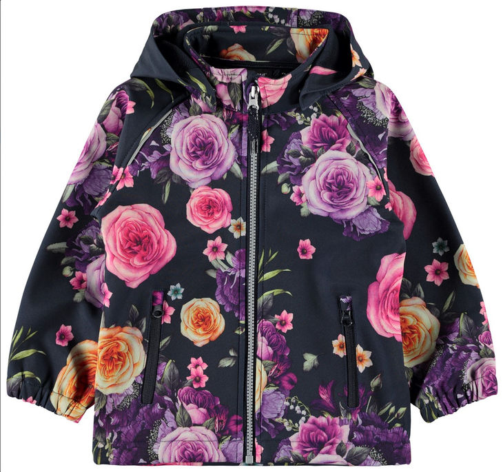 Name It NKFALFA JACKET ROMANTIC FLOWER Dark Sapphire