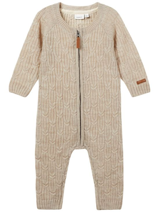 Name It Nbnwruni Wool LS Knit Suit Peyote