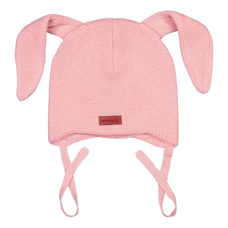 Metsola SS20  Cotton Knitted Baby Beanie Bunny Marshamallow