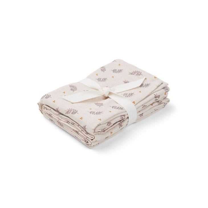Liewood Hannah Muslin Cloth Print 2 Pack Fren/Rose