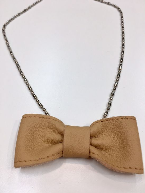 For Minis And Mommies The Bow Necklace Light Brown