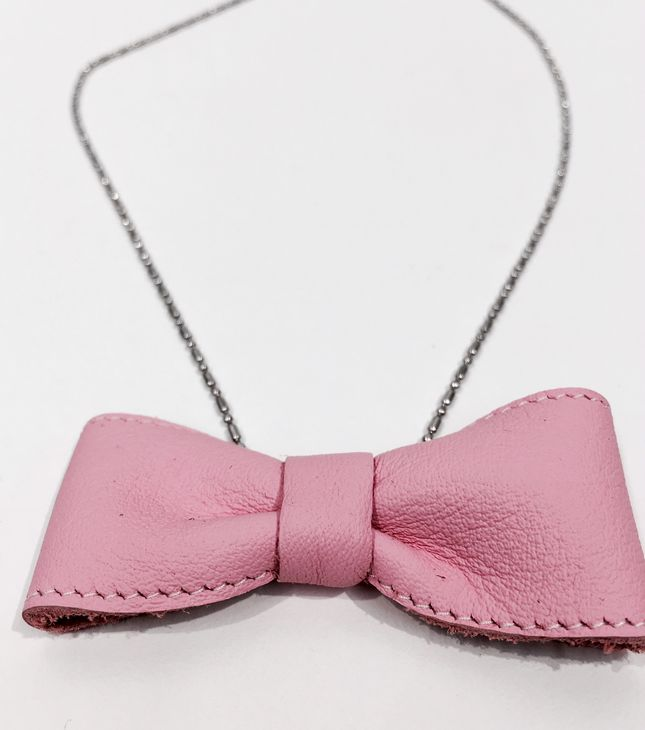 For Minis And Mommies The Bow Necklace Baby Pink