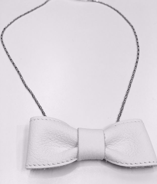 For Minis And Mommies The Bow Necklace White