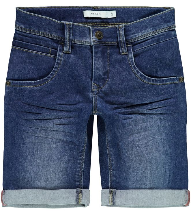 Name It Nkmsofus Dnmtax Long Shorts Noos Medium Blue Denim