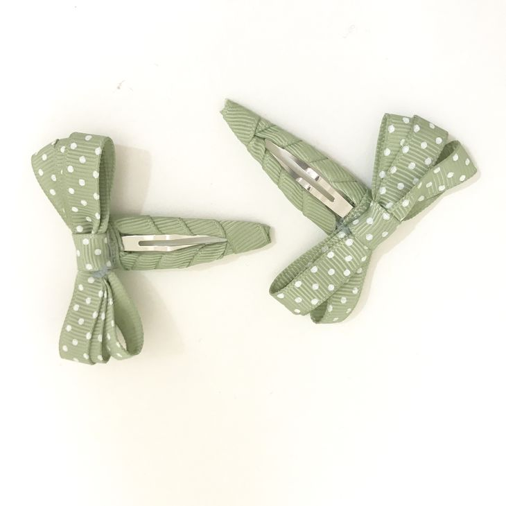 Name It Nkfacc Kasandra 2P Hairclips Oil Green - Hiuspinni