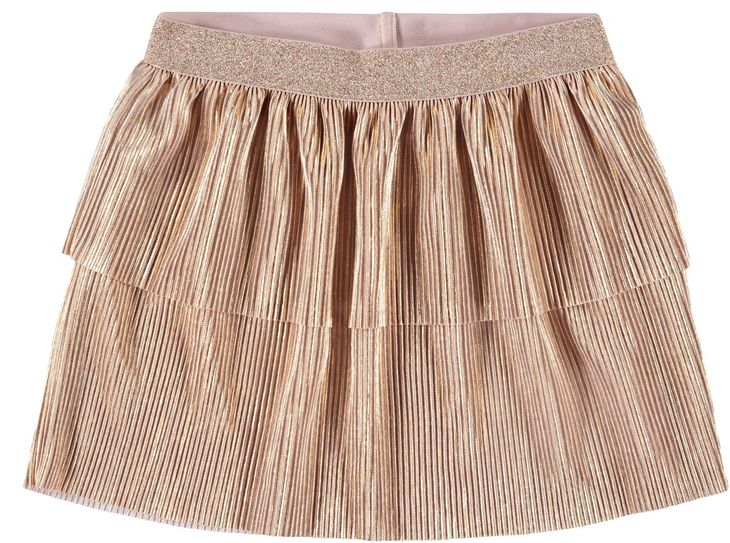 Name It Nmfsilan Skirt Gold Colour