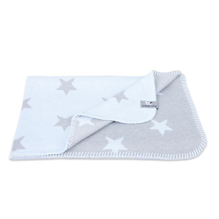 Baby's Only Baby Crib Blanket Star Baby Blue/Grey - Torkkupeitto-OS