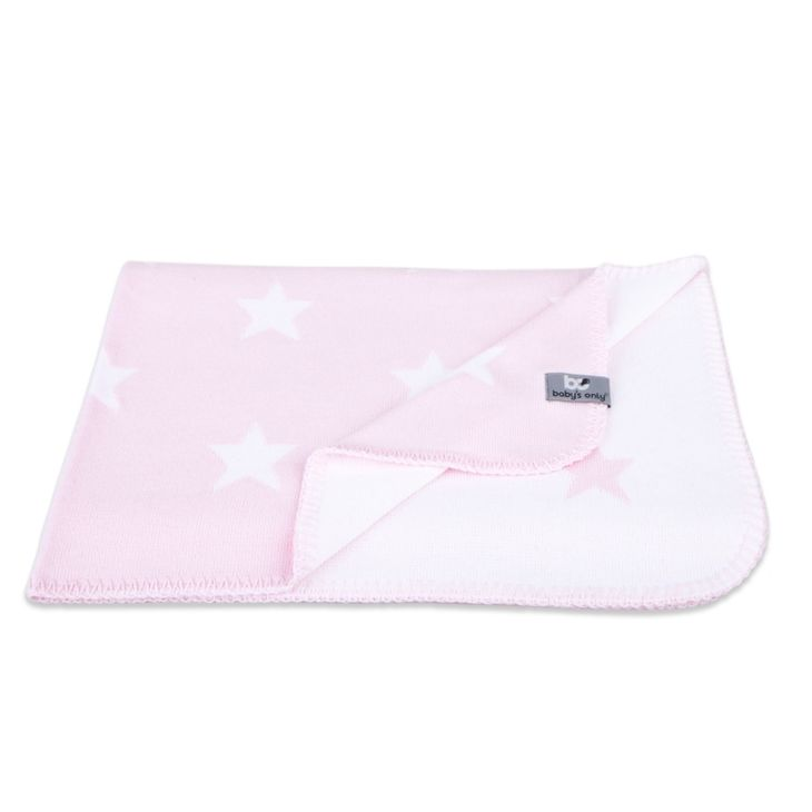 Baby's Only Baby Crib Blanket Star Baby Pink/White - Torkkupeitto