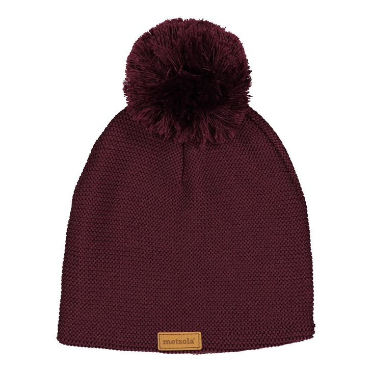 Metsola AW17 Knitted Beanie Wine Red -Merinovillapipo