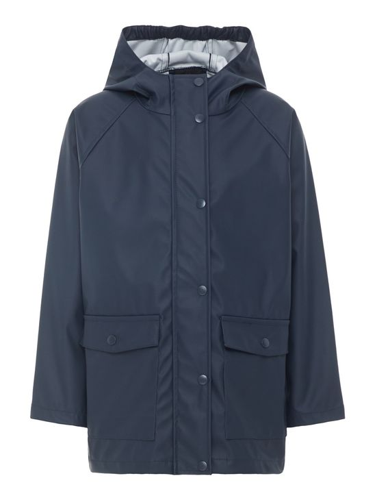 Name It Nknmil Rain Jacket Camp Dark Sapphire