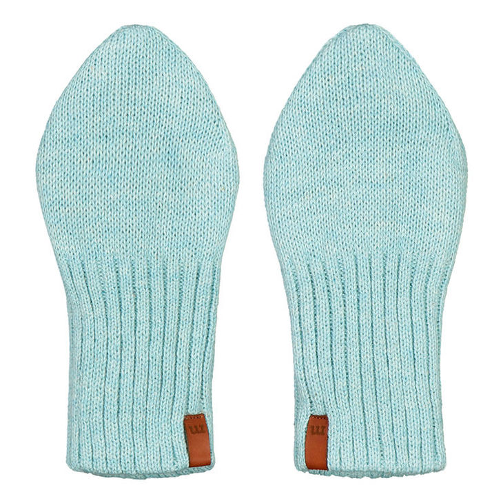 Metsola SS20 Cotton Knitted Baby Mittens Fairy Aqua