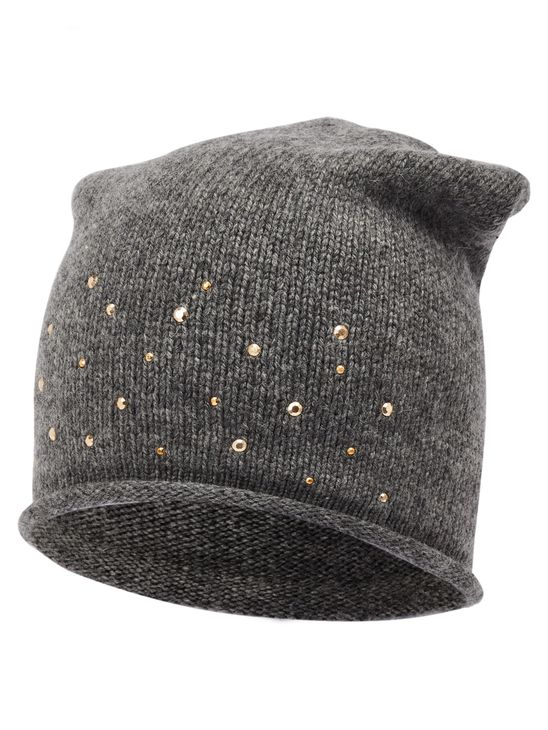 Name It Nkfmosta Dropshape Hat Dark Grey Melange