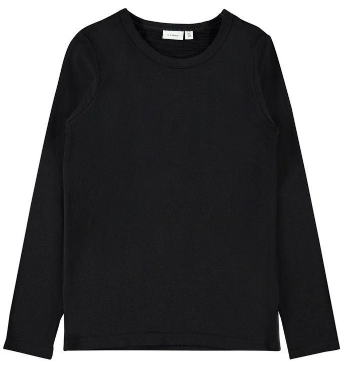 Name It Nkmwang Wool Plain Ls Top Black