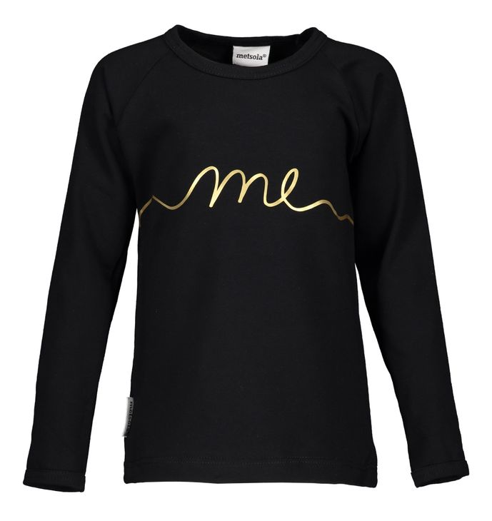 Metsola AW17 Placement ME T-Shirt Black-Gold
